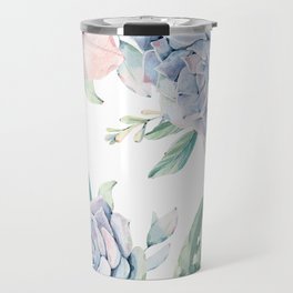 Cactus Rose Succulents Travel Mug