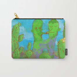 Kissing Cactus Carry-All Pouch