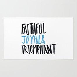 Faithful Joyful and Triumphant x Blue Rug
