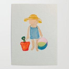 Toddies Summer Beach Holiday Baby Girl Poster