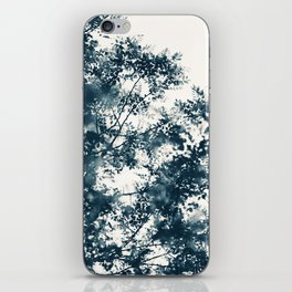 Blue Leaves #1 iPhone Skin