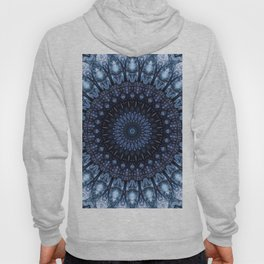 Dark and light blue mandala Hoody