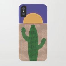 Cactus in the Desert Sunset iPhone X Slim Case
