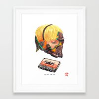 star lord Framed Art Prints featuring My Little Star Lord by Damian Dideńko