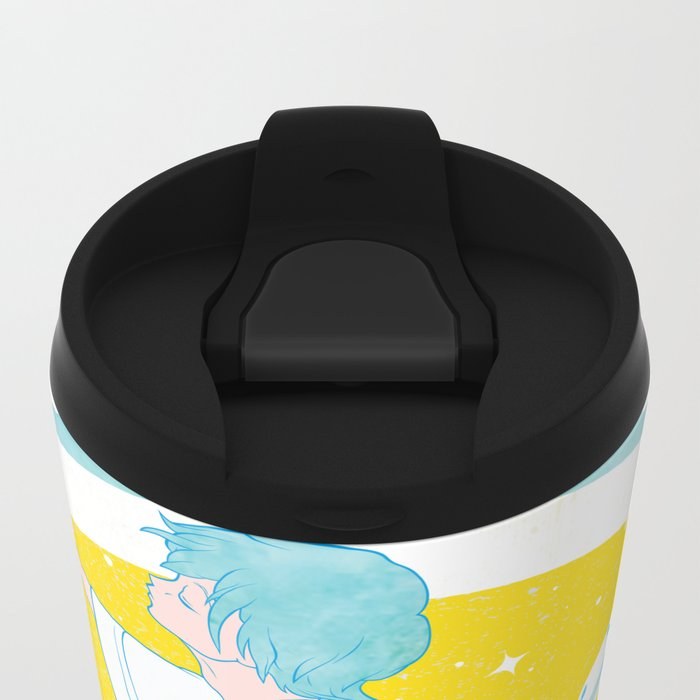 SUPER ULTRA MIRACLE SPACE GALAXY THUNDERBOLT INDIAN FIRE VOLCANO CATTLE MUTILATION LONELY WOLF BALL Metal Travel Mug