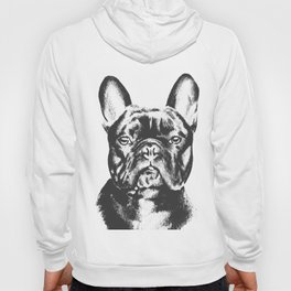 Black And White French Bulldog Sketch Hoody