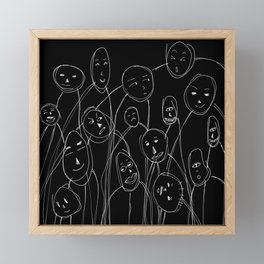 Face Framed Mini Art Print
