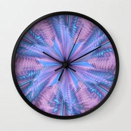 Blue Star Flower Wall Clock