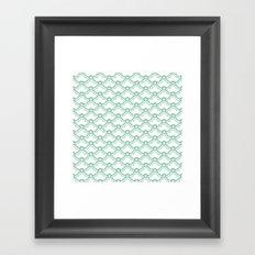 matsukata in grayed jade Framed Art Print
