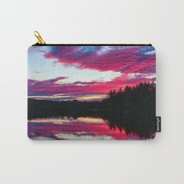 Purple skies and sunset over the Scituate Reservoir, Scituate, Rhode Island Carry-All Pouch