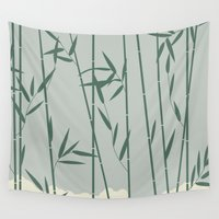 bamboo Wall Tapestries featuring Bamboo by Rceeh