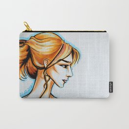 blonde girl Carry-All Pouch