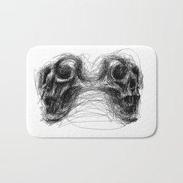 Split skull Bath Mat