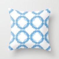 ikat Throw Pillows featuring ikat by Kozza