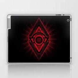 The Eye of Providence is watching you! (Diabolic red Freemason / Illuminati symbolic) Laptop & iPad Skin