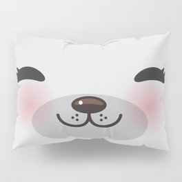Kawaii funny gray seal Pillow Sham