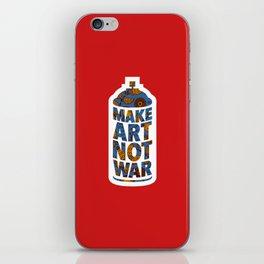 Make Art Not War (African print red) iPhone Skin