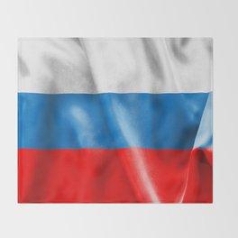 Russian Federation Flag Throw Blanket