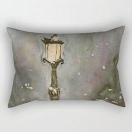 Lamp Post in Blue Rectangular Pillow
