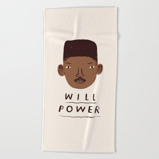 Will Power Beach Towel