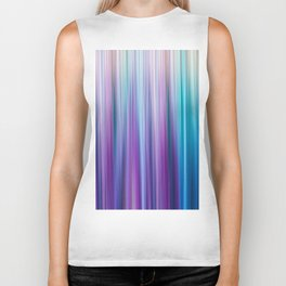 Abstract Purple and Teal Gradient Stripes Pattern Biker Tank