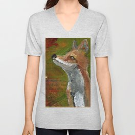 Wisdom of the Fox Unisex V-Neck
