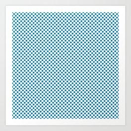 Blue Jewel Polka Dots Art Print