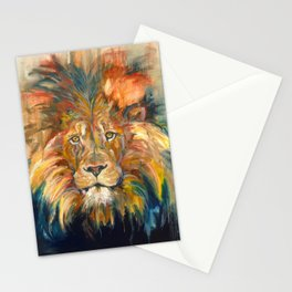 Lion Oil Painting Stationery Cards
