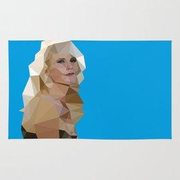 Cyan Blonde Rug