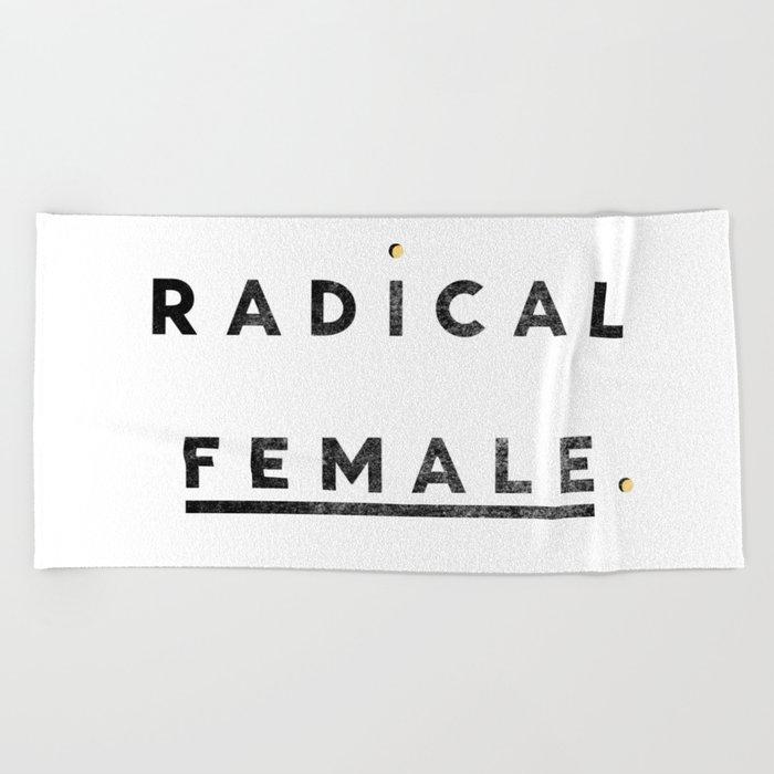 Radical Female Beach Towel