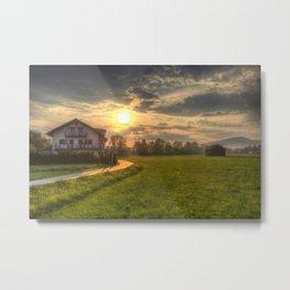 Saint Lorenz Austrian Alps Sunset Metal Print