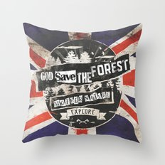 God save the forest Throw Pillow