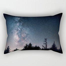 Milky Way Over Forest Rectangular Pillow