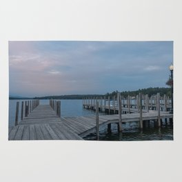 Weirs Beach Docks Rug