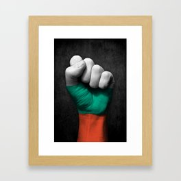 Bulgarian Flag on a Raised Clenched Fist Framed Art Print