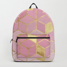 Gold and pink mosaic Backpack