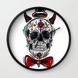 Mr. Dia de los Muertos Wall Clock