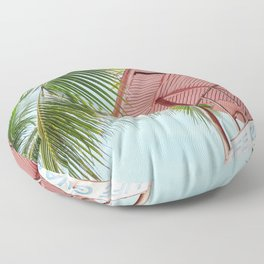 Life Under The Palm Tree Floor Pillow