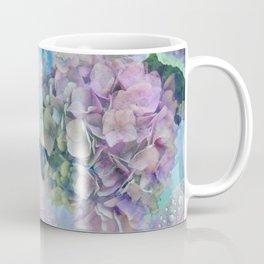 Watercolor hydrangeas and leaves Coffee Mug