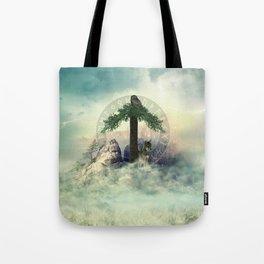 Tiwaz Rune  Digital Art Collage Tote Bag