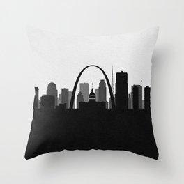 City Skylines: St. Louis Throw Pillow