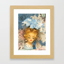 lady in the blooms Framed Art Print