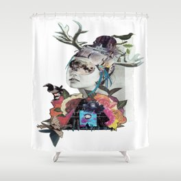 Magpie Moon Junkie Woman Shower Curtain