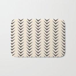 Cocoa Bisque Chevron Line Mid-Century Shapes Bath Mat