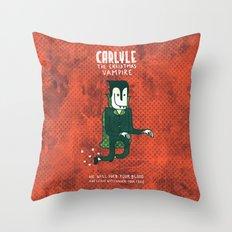 The Christmas Vampire Throw Pillow