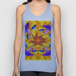 Purple & Gold Floral Design Unisex Tank Top