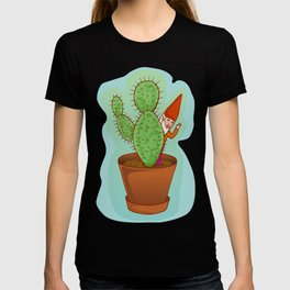 fairytale dwarf with cactus T-shirt