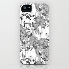 just goats black white iPhone SE Slim Case