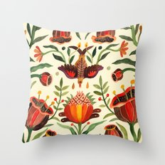 Singing Flowers - Day Throw Pillow