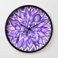 chakra Wall Clocks featuring Crown Chakra by CalaNooka